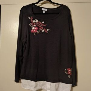 Plus size women's dress shirt